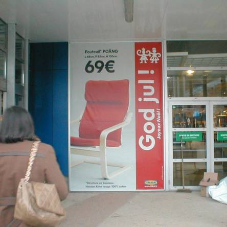 panneau extérieur publicitaire