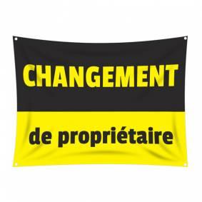 Bâche CHANGEMENT DE PROPRIÉTAIRE
