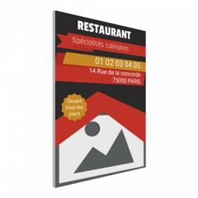 Pancarte pour bar restaurant