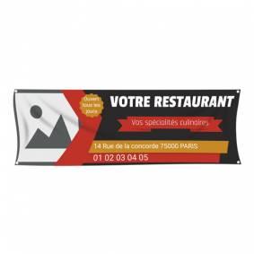 Banderole pour bar restaurant