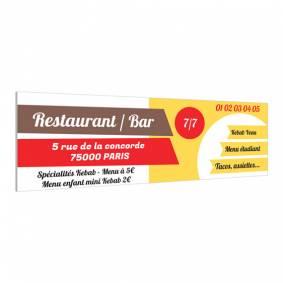 Panneau pour restaurant