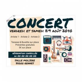 Grande Affiche pour Concert