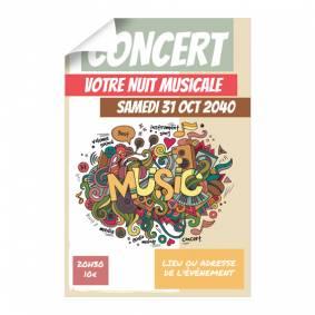 Affiche pour Concert