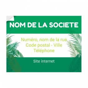 Sticker publicitaire végétal