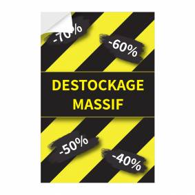 Adhésif vertical Destockage